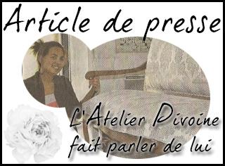 Article de presse Atelier Pivoine